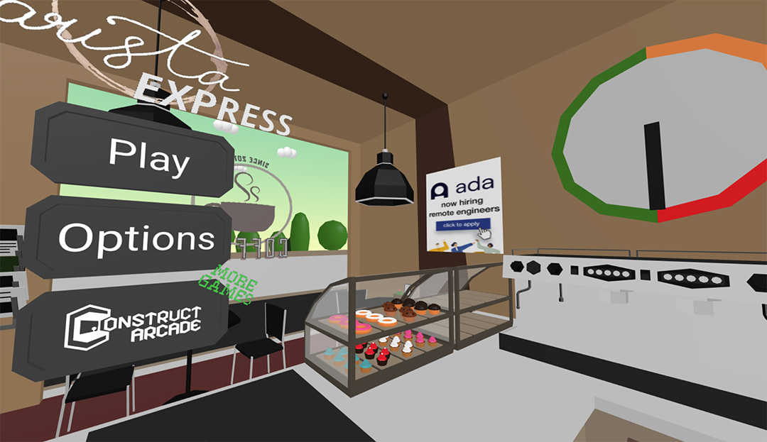 Screenshot of Ada advertisement being served in Barista Express.