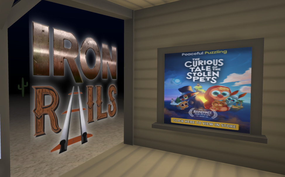 Screenshot of advertisement being served in Iron || Rails.