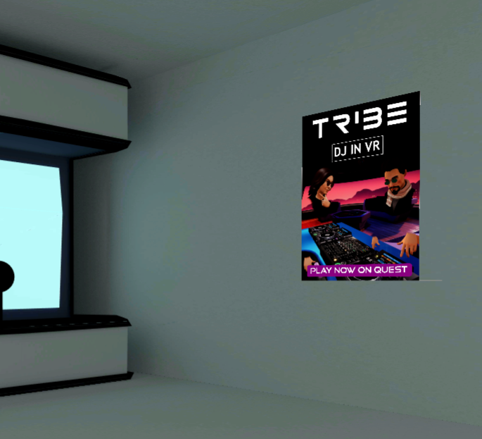 Screenshot of an ad in the VR Hub.
